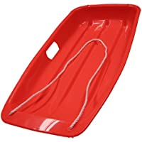 Lightweight Red Sledge with Rope Handle