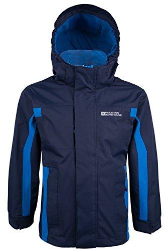 Mountain Warehouse Samson Kids Waterproof Hooded Jacket Navy 11-12 years