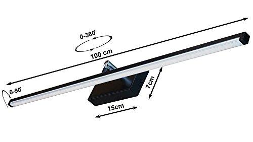 Wandlampe 90 cm Warmweiß MOD-B Bilderleuchte Beste Qualität Designer Lampe Bildleuchte LED (Schwarz) - 2