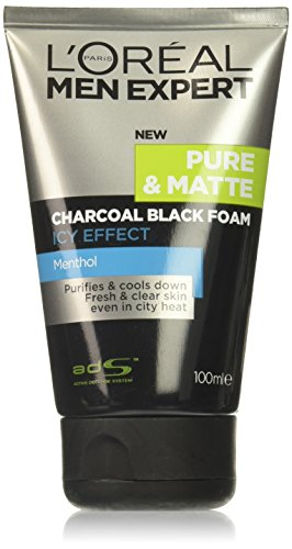 L'Oreal Men Expert Pure & Matte Icy Effect Charcoal Black Foam 100ml