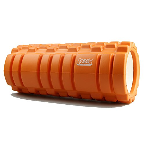 Protone-trigger-point-foam-roller-with-grid-trigger-point-zones-for-deep-massagerehab-physiotherapycrossfit-runningmarathon-yogapilates-choose-coloursorange