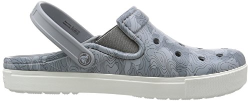 Crocs Citilane Topographiques Mule Light Grey/White
