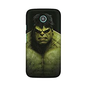 Mobicture Green Monster Premium Printed High Quality Polycarbonate Hard Back Case Cover for Moto E With Edge to Edge Printing