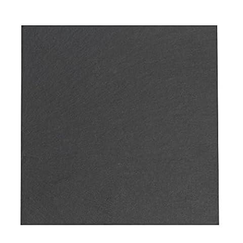 Indulge S4 BDA281111 sous-verres carrés lisses avec bords en ardoise