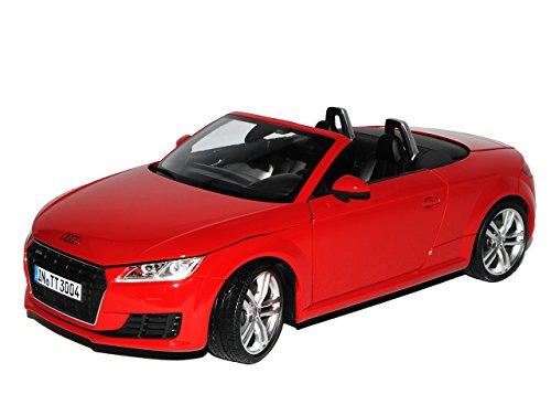 Minichamps A-U-D-I TT 8S Cabrio Roadster Tango Rot 3. Generation Ab 2014 1/18 Modell Auto mit individiuellem Wunschkennzeichen