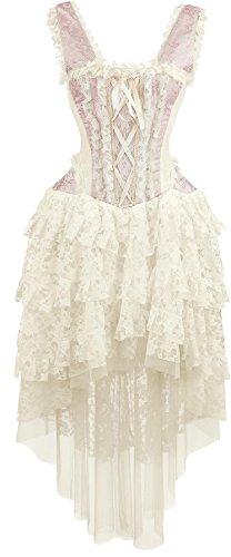 Burleska Ophelie Dress Abito lungo rosa pallido L