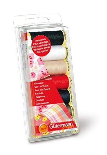 Gutermann Sew-All - Juego de hilos de costura (7 bobinas de 100...