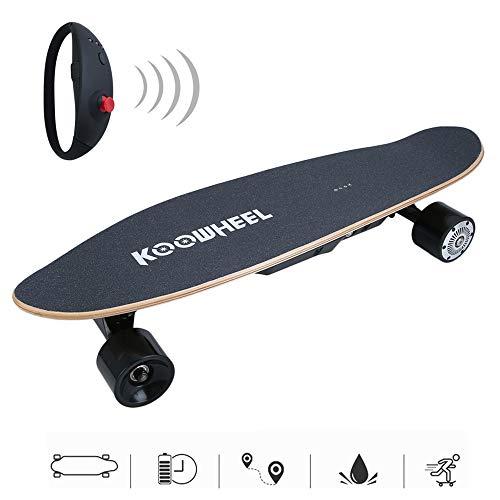Kitechildhrrd Elektro Longboard Skateboard mit Fernbedienung 150W Komplettboard Cruiser Board Unisex One Size Elektroboard Scooter für Erwachsene und Jugend, Schwarz