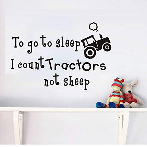 Schlafen Ich Zähle Traktoren Nicht Schafe Quote Wandaufkleber Für Kinderzimmer Vinyl Wandbilder Abnehmbare Aufkleber Wohnkultur