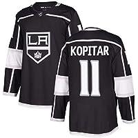 Kopitar # 11 Kings Camiseta de Hockey sobre Hielo de Manga Larga para Hombre Ropa de Deporte de Hockey sobre Hielo Equipo de competición Uniformes de Entrenamiento Jersey de Ventilador Camiseta Real
