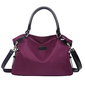 41CyJN7RvpL. SS300  - Eshow Bolso Bandolera a Hombro para Mujeres Bolso de Mano Shoppers Viaje Casual Compras Gran Capacidad