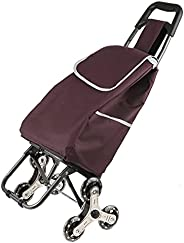 Folding Shopping Bag Cart Grocery Shopping Foldable Cart Stair Climber Shopping Trolley Cart Crystal Wheel Tro