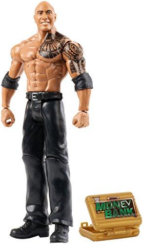 Mattel GmbH FMD41 WWE Basis Figur (15 cm) The Rock, boys Wwe The Rock Mattel