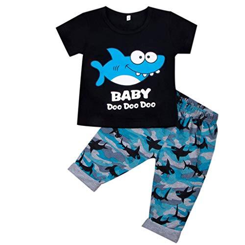 Säugling Baby Jungen Drucken Tops + Pants Outfits Kleider Set 12 Monate - 4 Jahre Jungen Kinder Baby Herbst Kleidung des Babys Briskorry (Boy Badewanne Spielzeug)