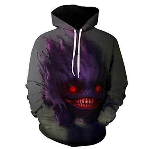 3D Digitaldruck Hoodie Musik Rock DJ Hip-Hop Sweatshirt Pullover Männer/Frauen Casual Sportswear WY-109 M (Rock Star Kostüm Männliche)