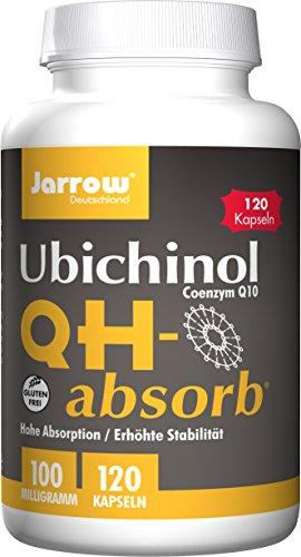 Q10 QH-absorb, Coenzym Q10 nicht oxidiert 100 mg, Ubichinol, reduzierte Form, 120 Weichkapseln, optimal bioverfügbar, Jarrow Deutschland