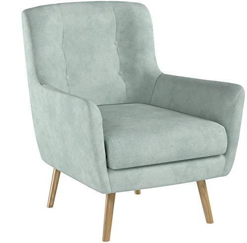 SUENOSZZZ-ESPECIALISTAS DEL DESCANSO Butaca nórdica Izan de una Plaza, sillón tapizado en Tela Antimanchas Color Verde Agua