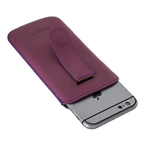 BENITO Leder Case für Apple iPhone 6/iPhone 6S (Multicase Antic Coffee), Leder, hautfarben, iPhone 6 / 6S violett