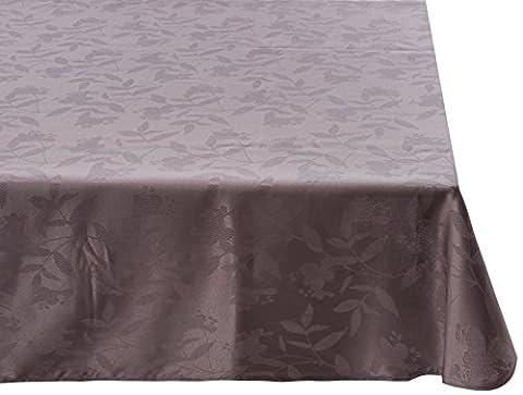 Nappe en tissu ovale 180X240 cm OMBRA GRIS FONCE