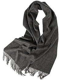 Prettystern - 100% Kaschmir einfarbig unisex kuschelig weicher Winterschal 200cm langer Fransen Schal - Farbwahl