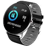 Montre Intelligente Bluetooth Smartwatch Sport Smart Bracelet connectée Etanche Fitness Trackers d'activité avec Écran Tactile (Gray)