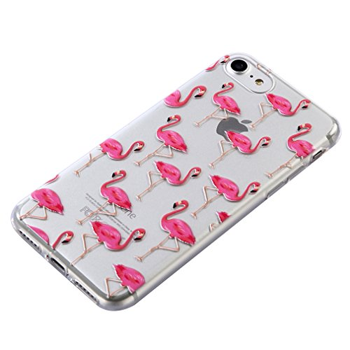 SZHTSWU® Hülle für iPhone 6 6S, Ultra Slim Thin Weiche TPU Ultradünn Soft Silikon Schutzhülle Case Transparent Clear Flexible Rückschale Back Cover Etui Handy Hülle Bumper Abdeckung für Apple iPhone 6 Flamingos