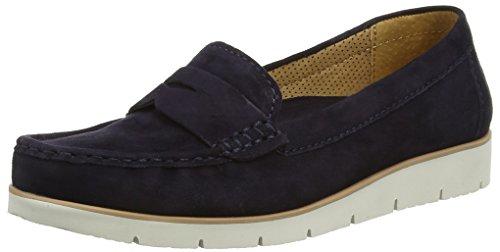 Gabor 44.220 Damen Moccasins, Blau (Dunkelblaues Wildleder), 6.5 UK / 40 EU (Leder Flache Schuhe Patent Ballerina)