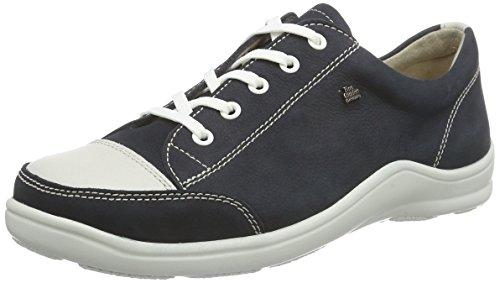 Finn Comfort Soho, Damen Sneakers, Blau (Navy/Jasmin), 40 EU