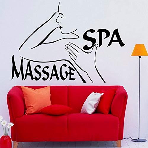 Schönheitssalon Wanddekor Massage Spa Wandaufkleber Mädchen Frau Moderne Kunst Wandtattoo Abnehmbare DIY Wohnkultur 83 cm x 58 cm S