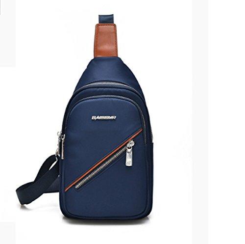 BULAGE Pack Brusttasche Nylon Männer Natur Sport Mode Freizeit Langlebig Bequem Luft Schmutz Und Praktisch Blue