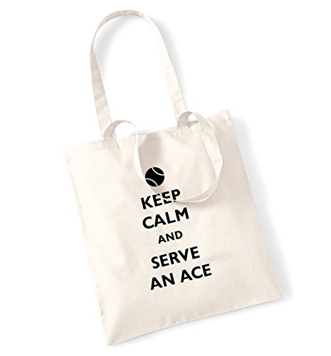 Keep calm and serve un asso tote bag Natural
