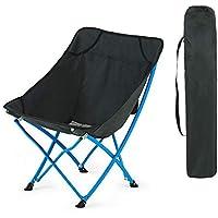 Yarmy Silla Plegable De Camping Portátil, Rodamiento 120kg,compacta con Portavasos Y Bolsa De