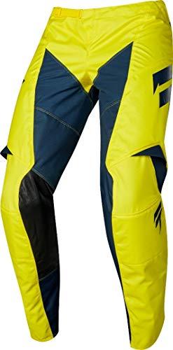 Shift WHIT3 York Jugend Motocross Hose Gelb/Blau 28 -