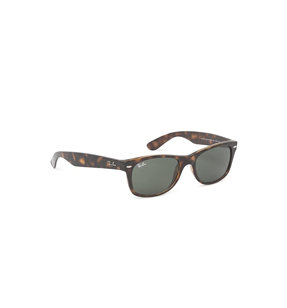 ray ban new wayfarer rb2132 sunglasses  ray ban 2132 new wayfarer black on transparent polarized sunglasses size one size: amazon.co.uk: clothing
