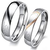 Jewelry Korean version of the ring fashion Titanium steel Valentine's Day love couple romantic joint ring simple