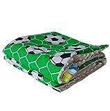 Ball Grün Creme Minky Babydecke Kuscheldecke Krabbeldecke Decke Super weich und flauschig Handarbeit (75x100cm, Ball Grün Creme)