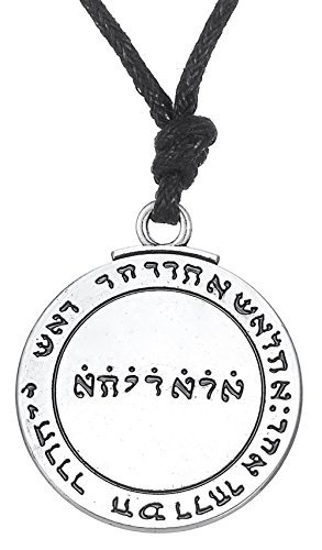 Medieval Vintage Talisman Pentacle Colgante de Salomón sello hermético Kabbalah Pagan joyas para hombres mujeres