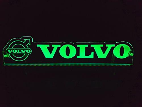 Preisvergleich Produktbild 24 Volt LED Leuchtschild für LKW Truck Trucker Fahrer Grün Logo Schild Kabine Zubehör Dekoration Accessoires Laser Graviert 24V / 5W