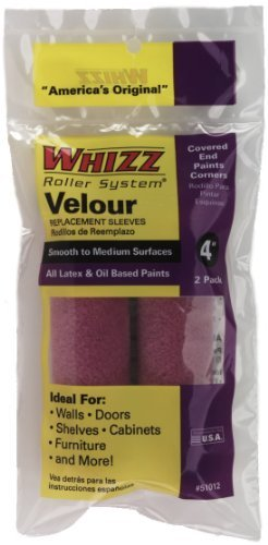 work-tools-international-51012-4-inch-whizz-paint-roller-cover-velour-fine-finish-by-work-tools-inte