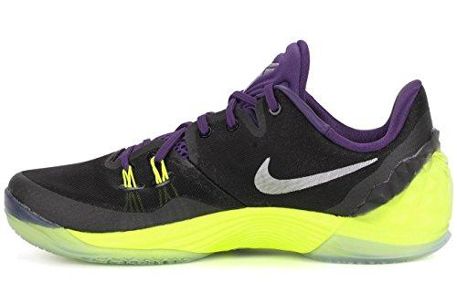 Nike  Zoom Kobe Venomenon 5,  Herren Basketball Turnschuhe Schwarz / Versilbert / Dunkelviolett / Grün (Schwarz / Mtllc Slvr-Crt Prpl-Vlt)