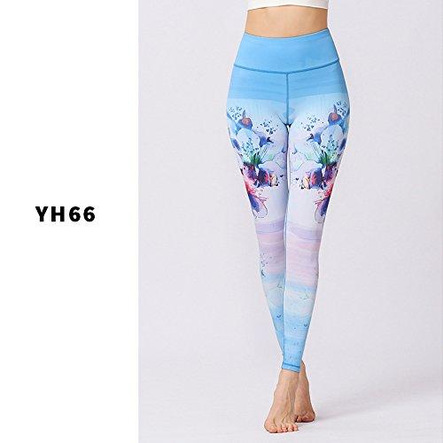 SEXSUNG Women'S Nine Cent Pants 2018 New Print Yoga Pants Ladies' Nine Pants Outdoor Cycling.