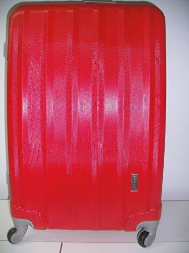 Trolley Set 3er Set Gepäck Taschen Koffer Kofferset Teleskop mit Zahlenschloss exklusive Verarbeitung tolle Farben massive robuste Qualität Trolley 3er Set XXL (brombeer) rot