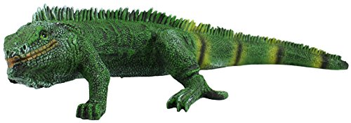 "Dekofigur grüner Leguan ""Marvel"" Tierdeko Echse Iguana Gartenfigur Terrarium Figur"