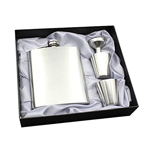Enerhu Flasque Inox avec Entonnoir et 2 Petites Tasses Argent #1