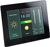 Intenso Weatherstar Digitaler Bilderrahmen mit Wetterstation (20,32cm (8 Zoll) Farbdisplay, SD/SDHC/MMC/MS Slot, Fernbedienung) schwarz