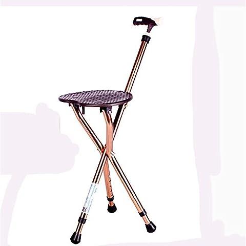 RUIRUI Pieghevole sedile canna leggera regolabile in altezza , brown