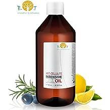biOty garden Olio Intensivo Anti cellulite Dimagrante 100% Naturale con Oli essenziali di limone, rosmarino, cannella, basilico e ginepro 500 ml - Penetra 6 volte più in profondità