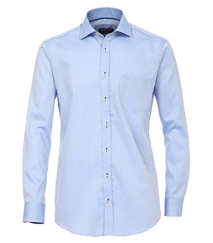 Michaelax-Fashion-Trade -  Camicia classiche  - A pois - Classico  - Maniche lunghe  - Uomo Blau (103)