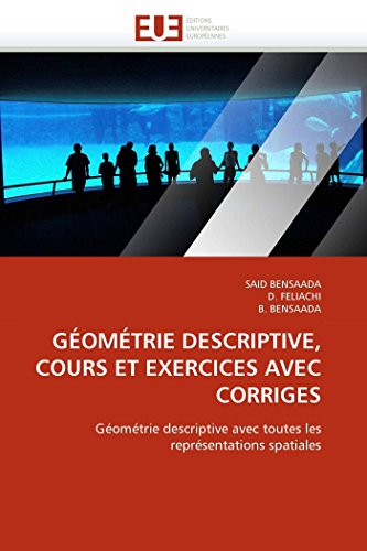Géométrie descriptive, cours et exercices avec corriges par SAID BENSAADA