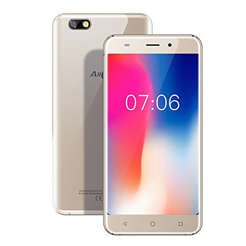 AllCall Madrid - 3G Samrtphone Ohne Vertrag, 5,5 Zoll HD Display, Android 7 Quad-Core 1GB RAM + 8GB ROM, 8MP Kameras 2600 mAh Batterie,Dual SIM